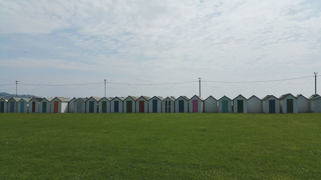 Check This Out Beach Life Beach Huts No People Summer ☀ Grass And Sky Relaxing Canon5D Eye4photography  EyeEm Best Shots Grass