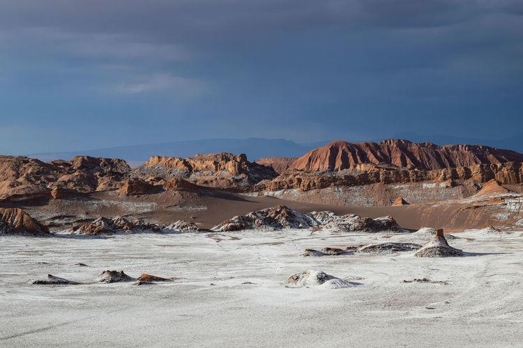 Landscape at valle de la luna