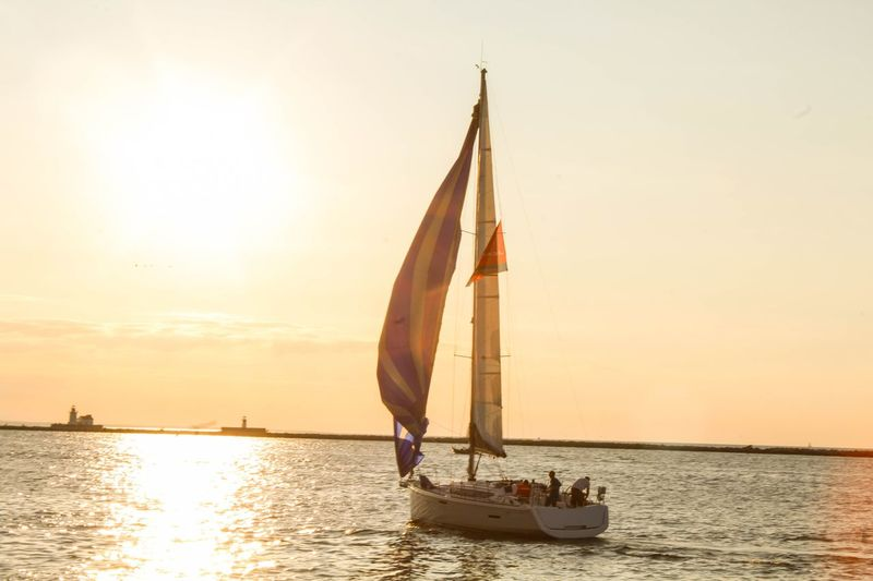 Sunset Nautical Vessel Sea Sailboat Sailing Transportation Silhouette Sunlight Horizon Over Water People Outdoors Vacations Yacht Sky Nature Sailing Ship Day Adult Tall Ship Lost In The Landscape