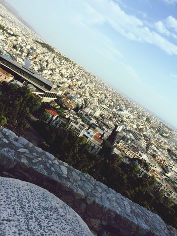 View over Athen from the Akropolis