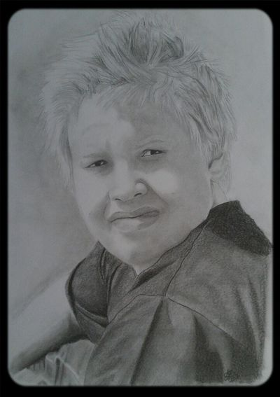 Baby brother. commission 1 out of 2 for Christmas Art Portrait Drawing ArtWork Arts And Crafts My Art DarcArt Derwent Pencils  Blackandwhite