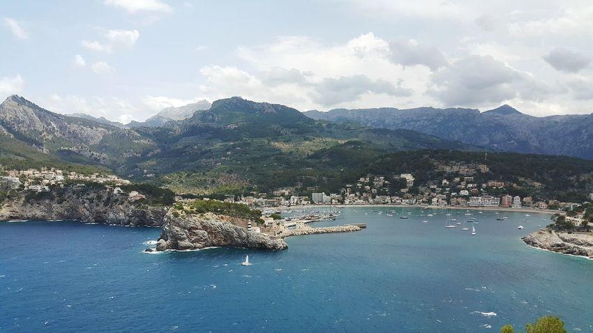 Mallorca❤️ Port De Sóller Mountain Landscape Mountain Range Beach Outdoors Summer Place Of Heart