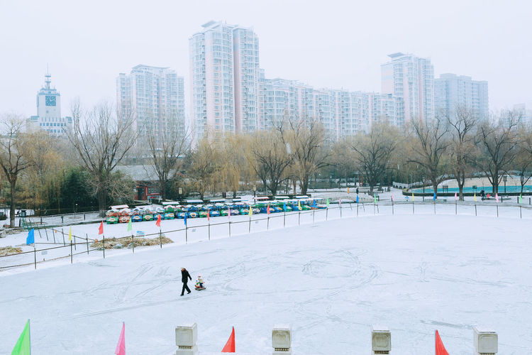 View of park in winter
