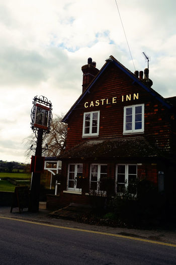 The inn outside Bodiam Castle Architecture Building Exterior Built Structure Day Exterior Outdoors Roof Sky Sky And Clouds Window