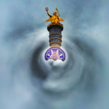 Berlin Siegessäule Tiny Planet