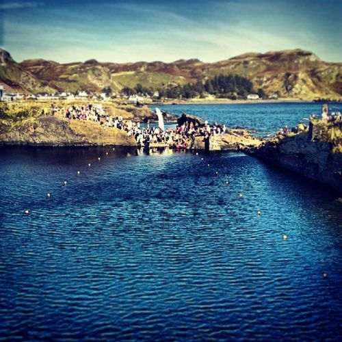World stone skimming championships, Easdale