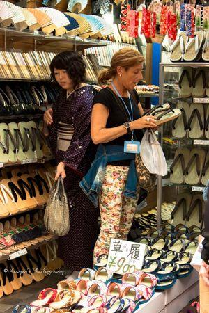 Tourist Shopping Japanese Sandals Japanese Kimono Kimono Portrait Folding Fan Japanese Sensu