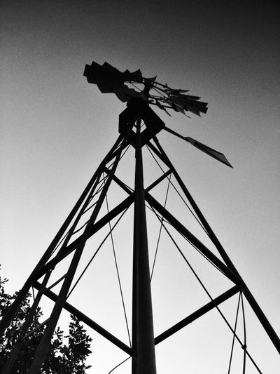 Windmill View From Below Bw_collection