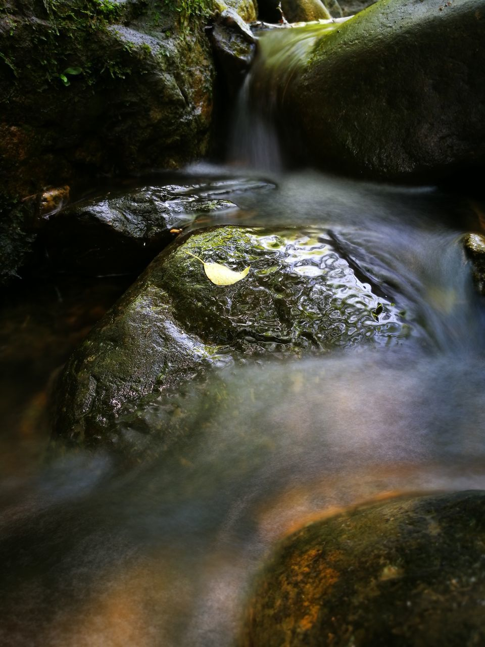 water, motion, waterfall, flowing water, flowing, rock - object, long exposure, blurred motion, stream, nature, no people, outdoors, running water, day, high angle view, stream - flowing water, beauty in nature, moss, rapid, scenics, hot spring, close-up