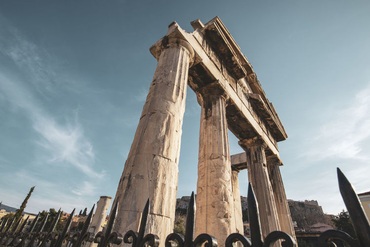 Athens Athens Greece Athens, Greece Sky Architecture History Built Structure The Past Ancient Low Angle View Ancient Civilization Travel Destinations Nature Architectural Column Cloud - Sky Tourism Travel Day Old Ruin Archaeology Building Exterior Old Ruined Outdoors Ancient History