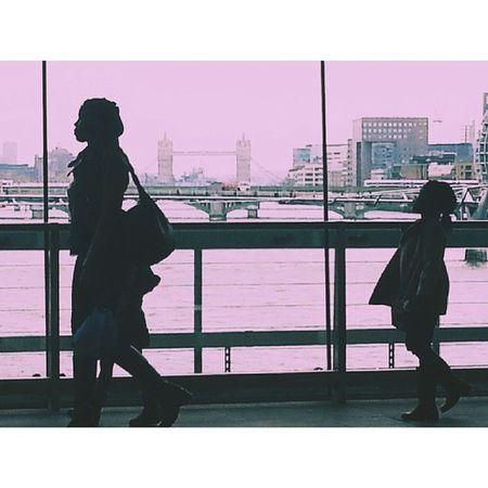 Blackfriars Station Silhouette tower bridge Igers vsco androidphotographers