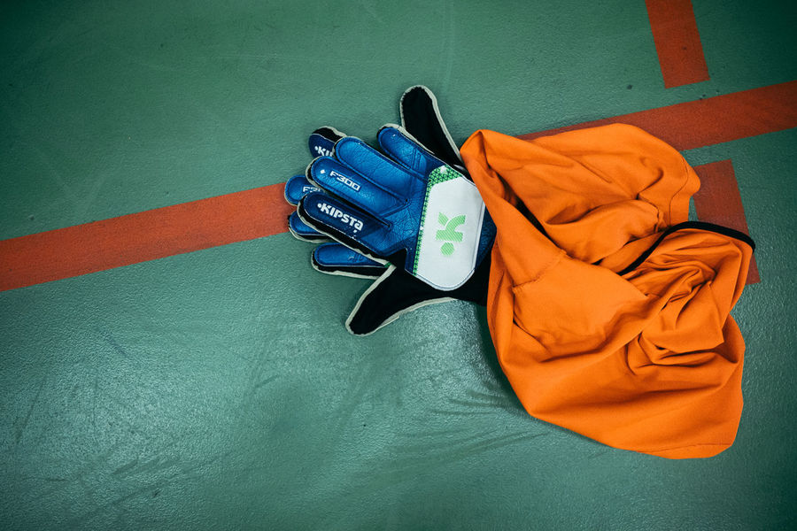 Football Close-up Day High Angle View Indoors  Keeper No People Sports Sports Clothing