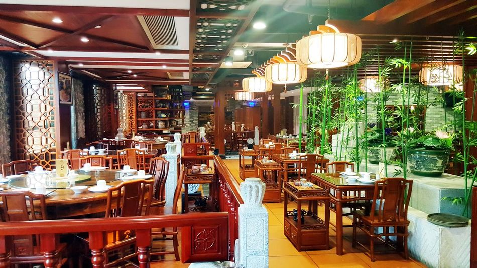 Chinese Tea Restaurant in Dongguan Food And Drink Interior Decorating Interior Design Restaurant Decor Tea Place