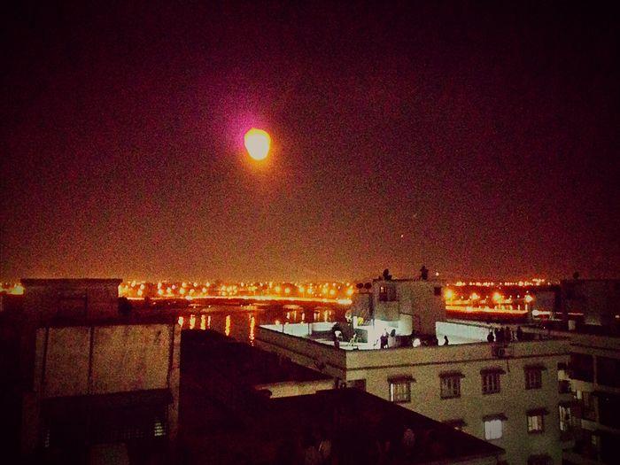 Uttarayan 2k16 Eve Nightphotography Parachute Like Mini Sun Ahmedabad