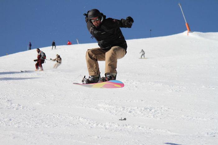 Snowboarding seasson officially open Nature EyeEm Best Shots Sport Winter Activity Vitality Snow Motion Fun Skill  Adventure Snowboarding Jumping