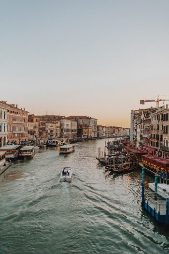 Sunset in Venice EyeEm Eyeemphotography EyeEm Selects EyeEm Gallery EyeEmBestPics Water Nautical Vessel Mode Of Transportation Transportation Sky Architecture Nature Building Exterior Built Structure Clear Sky Sea Waterfront Sunset Travel Travel Destinations Day Outdoors