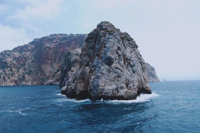 Alanya Travel Sea Rock Water Sky Nature Land Beauty In Nature Solid Idyllic Outdoors Turkey