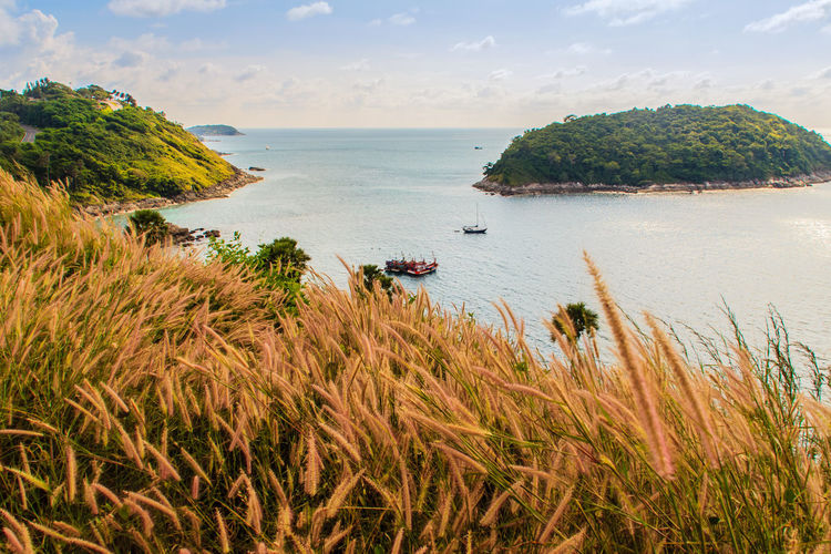 Beautiful seascape view of phuket cliff and small islands nearby Promthep cape, the most beautiful sunset viewpoint in Phuket, Thailand. Coastline Coastline Landscape Coastline Landscape Blue Beach Sea Outdoors Sky Scenics Real People Nature Day Water Coastline Nature Water Grass Sea Sky PromThepCape Promthep Cape Aerial View Beach Beauty In Nature Cliff View Cliffs And Water Cliffside Cloud - Sky Coastline Beauty Coastline Sky Day Grass Grass And Sky Green Color Growth Horizon Over Water Nature No People Outdoors Plant Promthep Scenics Sea Sky Small Island Small Islands Tranquil Scene Tranquility Viewpoint Water