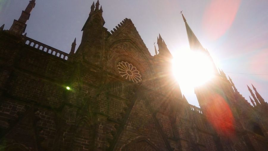 Sun Lens Flare Sky City Travel Destinations Architecture Tourism Church Architecture Subset
