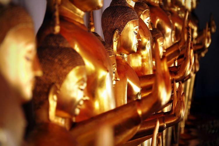 golden age ASIA Buddha Chiang Mai   Thailand Meditation Serenity Thailand Worship Gold Colored Golden Idol Religion Sculpture Spirituality Statue