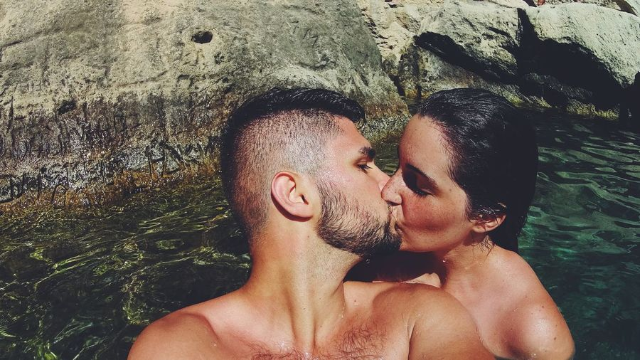 Love Couple Heart Italy Eyes Closed  Togetherness Real People Salento, Italy Grotta Della Poesia Sea Side Onlygoodvibes Nofilter Lovephotography  Photooftheday Italianbeauty Beauty Beautiful Nature Landscape South Italy Summertime Inlove Portrait EyeEm Selects