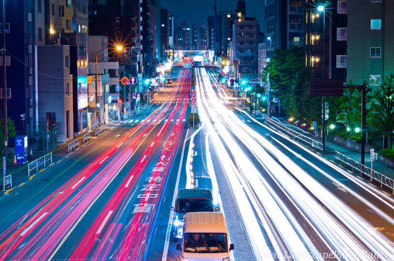 City Long Exposure Motion Illuminated Transportation Architecture Street Building Exterior Road Light Trail Night Speed City Life Built Structure City Street Blurred Motion Traffic Street Light High Angle View Mode Of Transportation Cityscape Outdoors Office Building Exterior Skyscraper Tokyo
