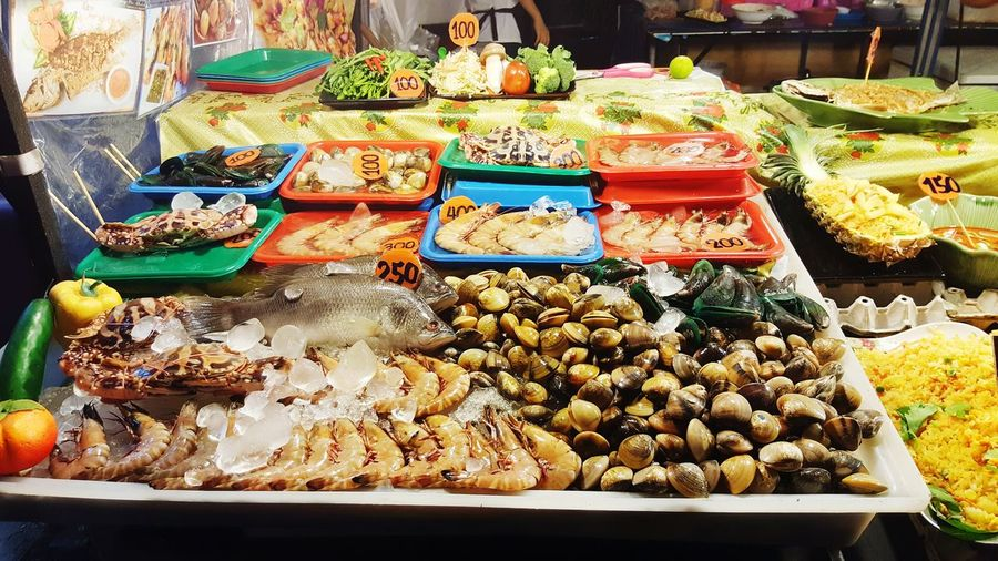 Thai Food Fish Variation Choice For Sale Food And Drink Abundance Retail  Market Large Group Of Objects Market Stall Food Healthy Eating Day Freshness High Angle View Arrangement Price Tag Outdoors No People Close-up