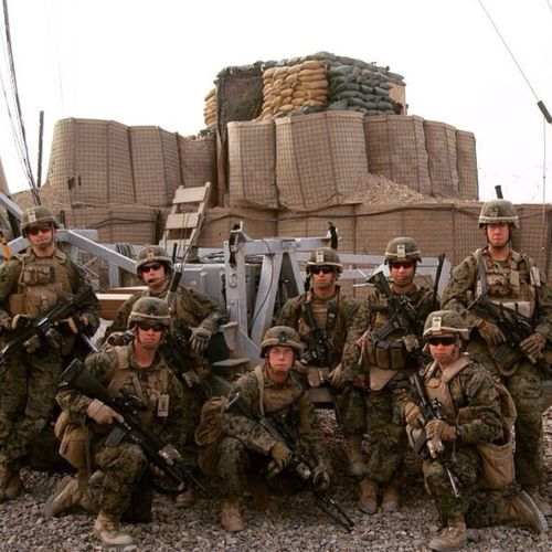 A squad of U.S Marines in Afganastan USA Us Military USMC