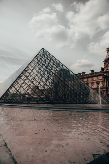 Paris France Paris France Paris ❤ Architecture Built Structure Sky Cloud - Sky Building Exterior Travel Destinations Pyramid History The Past No People Tourism Nature Water City Travel Pyramid Shape Day