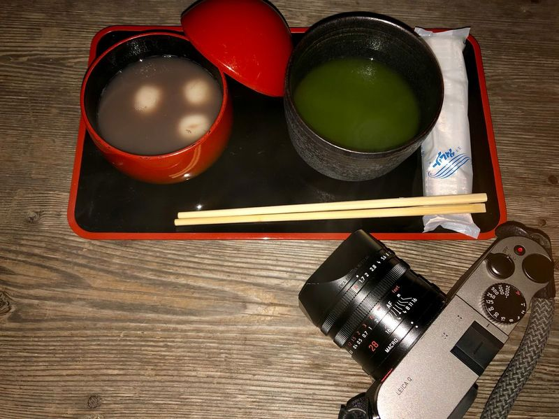 19:51 November 6 2018 / Night Zenzai and Tea 🍵 time : Mifuneyama Rakuen park, Takeo Saga prefecture in Kyushu / iPhone 8 28mm Flash on. November 2018 This Night Today's Hot Look Real Time Feed Zenzai Japanese Green Tea Mifuneyama Rakuen Table Still Life Indoors  No People Drink High Angle View Wood - Material Food And Drink Refreshment Bowl Household Equipment Hot Drink Tea Cup