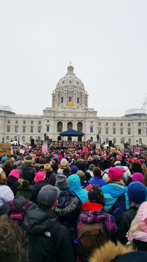 Women's March St. Paul Minnesota Large Group Of People Politics And Government Crowd First Eyeem Photo