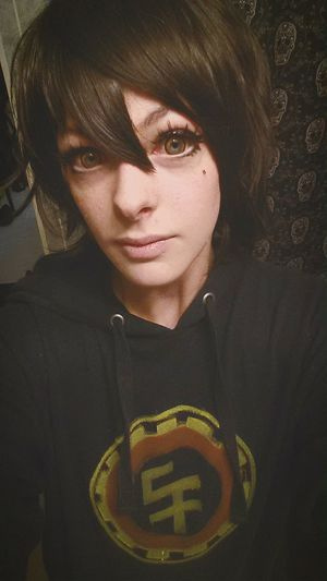 Really quickly wNted to try on my wig and new contacts before bed Big Hero 6 BH6 Hiro Hamada Cosplay Unique