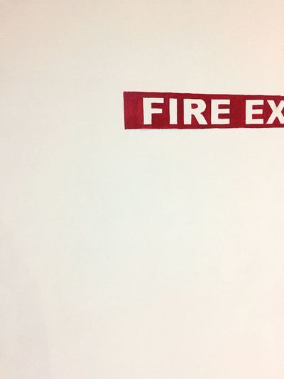 Fire Ex... Paiting Fireexit Red Wall Minimalism EyeEm Best Shots EyeEm Edits IPhoneography