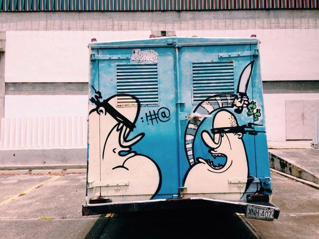 Fight Photography Street Photography Street Streetart Graffiti Truck Colors