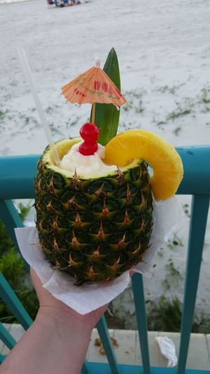 Beachy drink Beachy Drink Pineapple Pineapple Rum Whip Yummy Ice Cold On The Beach Beach Life Florida Life Come Drink With Me With A Cherry On Top Mini Umbrella