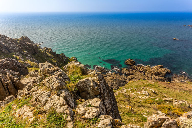 South West Coast Path Cornwall Beach Beauty In Nature Cliff Day Horizon Over Water Nature No People Outdoors Rock - Object Scenics Sea Sky Tranquil Scene Tranquility Travel Destinations Water