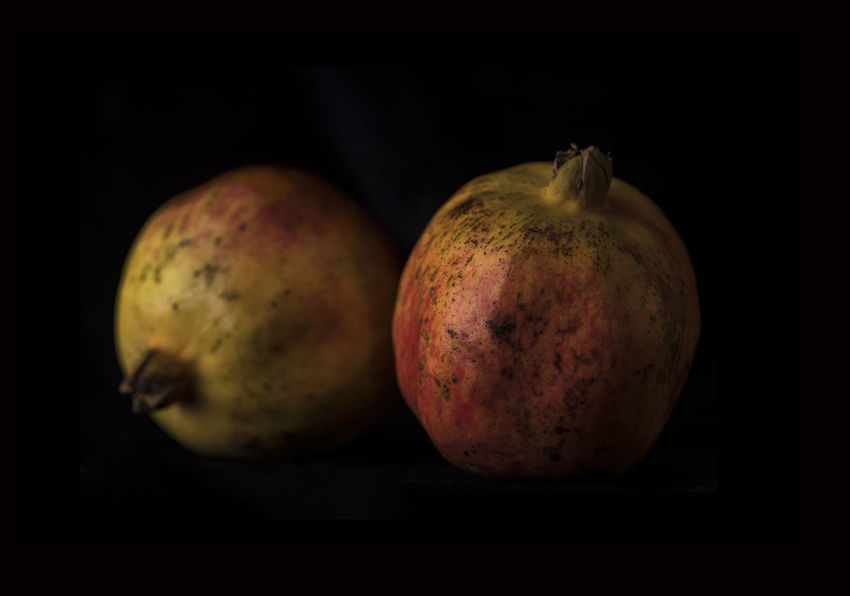 pomegranate Black Background Close-up Day Food Food And Drink Freshness Fruit Healthy Eating Indoors  No People Studio Shot