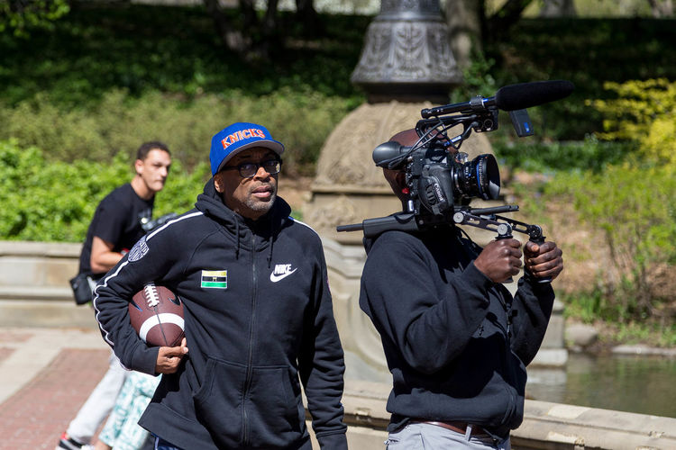Spike Lee working his magic in Central Park, New York. Celebrity Celebs Central Park CentralPark Director Famous Famous Person Film Film Photography Lee Manhattan MOVIE Movie Director Movie Shoot Staging New York New York City Newyork Newyorkcity NY NYC NYC Photography Shoot Spike Spike Lee SpikeLee