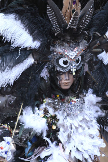 Person in costume during carnival