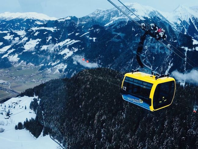 Snow Winter Cold Temperature Mountain Transportation Nature Scenics High Angle View Landscape Ski Lift