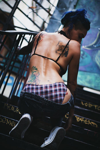 Young Adult Tattoo One Person Adult Arts Culture And Entertainment Young Women Shirtless One Woman Only One Young Woman Only Only Women Back Sexygirl Tattoogirl Tattooed Tattoo