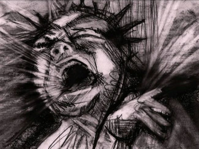 Sing a Scream. Exploring expressing movement and emotion through line. Charcoal Charcoal Drawing Emotive Singing My Heart Out
