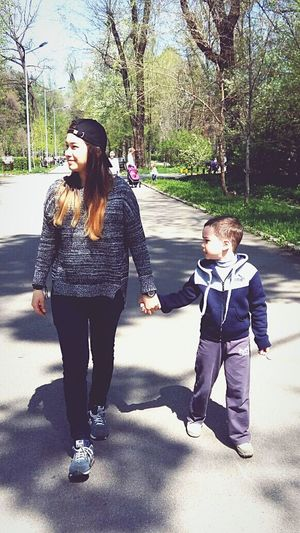 walk in the park Happiness Sunnyday Lovelyfamily Nature Brother And Sister Moment 23.04.17