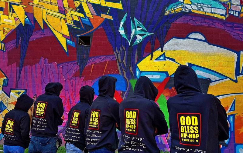 Colour Of Life Tag Graffiti Underground God Bless HipHop Team