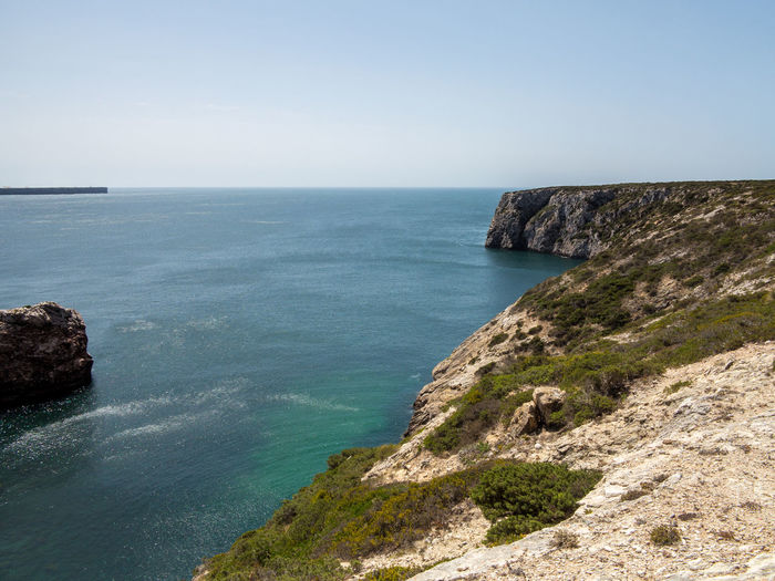 Cabo da Roca - Beautiful coastline of Portugal with Atlantic ocean and beach Sea Water Scenics - Nature Horizon Over Water Horizon Beauty In Nature Sky Tranquil Scene Tranquility Rock Rock - Object Land Nature Cliff No People Day Solid Idyllic Beach Outdoors Rocky Coastline
