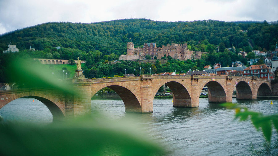 Castle in Old city, Germany Bridge Bridge - Man Made Structure Architecture Built Structure Water Connection River Arch Arch Bridge Tree Transportation Nature Plant Travel Destinations Engineering Sky Building Exterior Day Outdoors Castle Germany Old Buildings Old Town
