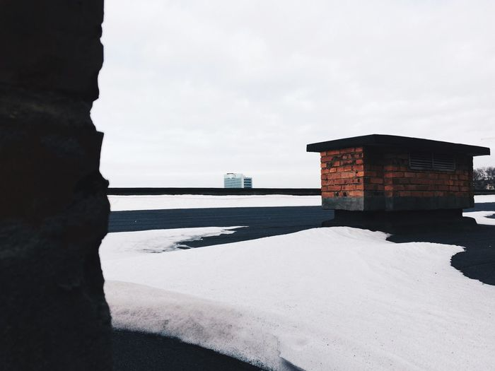 Nature Built Structure Sea Sky Architecture Building Exterior Day Outdoors Beauty In Nature No People Scenics Tranquility Tranquil Scene Horizon Over Water Water Building Russia House EyeEmNewHere Architecture Cold Temperature Winter Snow
