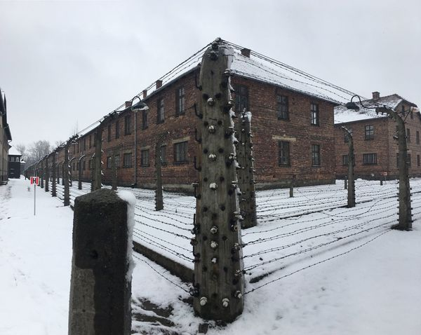 Winter Snow Cold Temperature Weather Building Exterior Architecture Outdoors Sky Built Structure Day No People Nature Extreme Weather Solitude Auschwitz Birkenau Auschwitz  Poland Auschwitz Memorial Dynamic