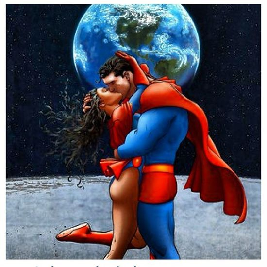 Dream Kiss Superman Lookin superwomen raybanna