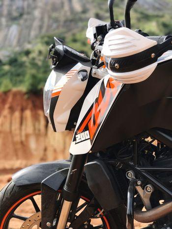 EyeEm Selects Bike Ktm Outdoors No People KTM Duke200 KTMRacing Mountain IPhoneography Mobilephotography